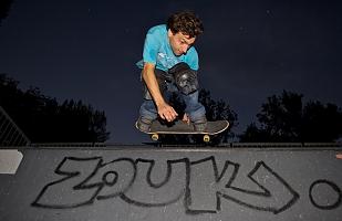 Skateboarding under the stars